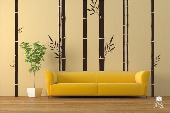 Bamboo Wall Mural - Vinyl Wall Decals