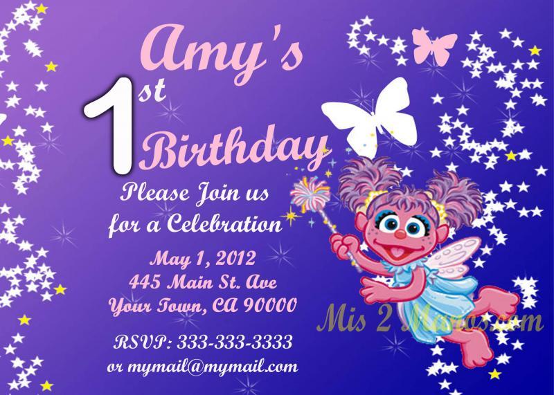 Abby Cadabby Birthday Invitation Custom – Abby Cadabby Birthday Invitations
