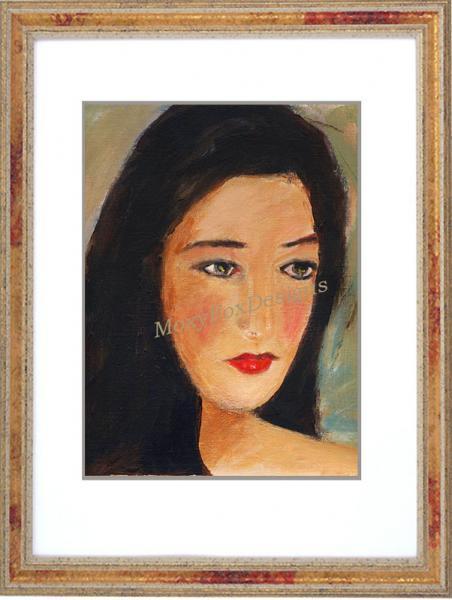 Art -- UNDER MY SKIN Fine Art Print Portrait Asian Face Black Hair