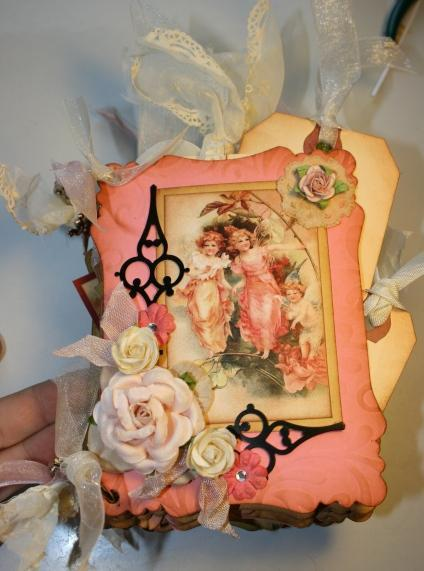 Vintage Fairy Garden mini chipboard album kit MA3