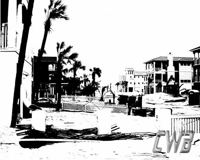 Dusk Darkens the Gulf Coast art print