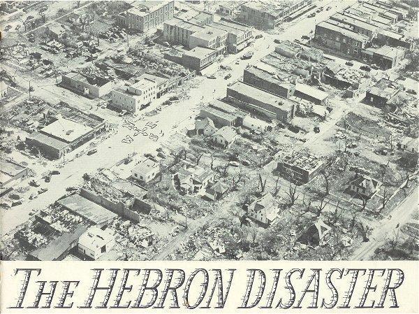 Hebron Nebraska Tornado Disaster 1953 Book History