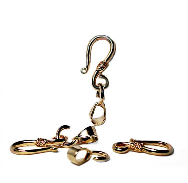 Fancy Golden Hook & Eye Clasps- jewelry findings