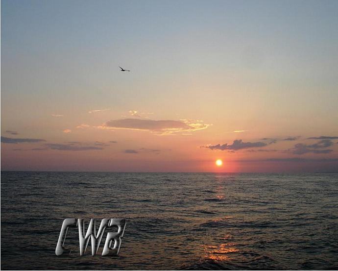 Sunset on the Water Gulf Coast art print