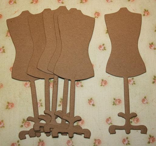 Raw chipboard dress forms for embellishing your mini albums and scrapbooks CS1