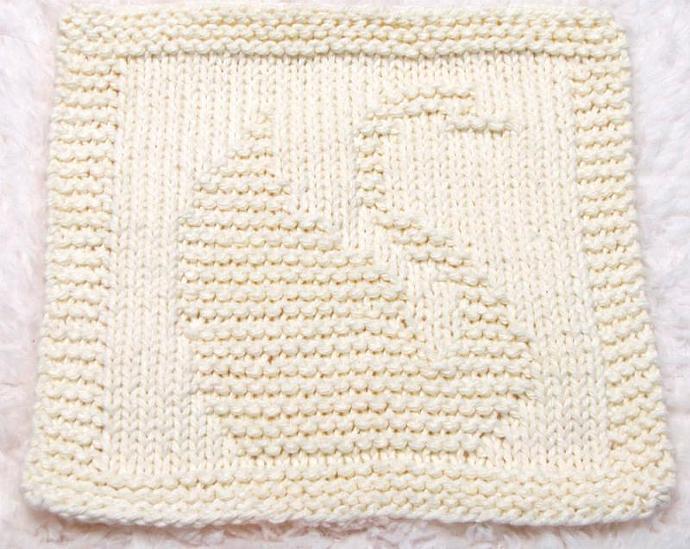 Knitting Cloth Pattern   - SAMMY THE SWAN -  PDF