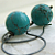 Turquoise Earrings, Handcrafted Petal Earhooks