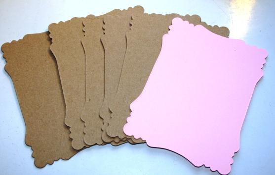 Light pink MEDIUM Victorian mini chipboard kit CM25