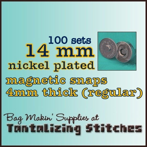 100 Nickel Plated 14mm Magnetic Snaps - 4mm thick