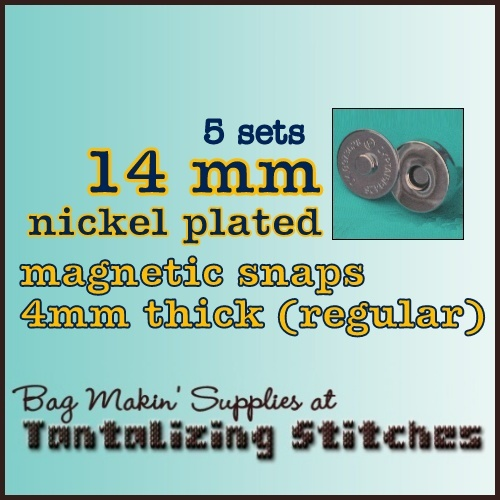 5 Nickel Plated 14mm Magnetic Snaps - 4mm thick