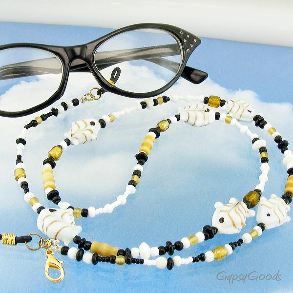 Fun Leash for Sunglasses or Glasses Golden Fishies