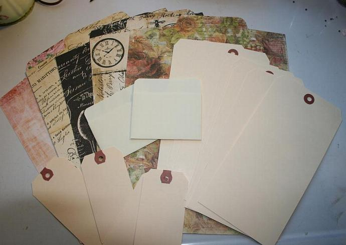 Large coin envelope mini album kit with tags MA13