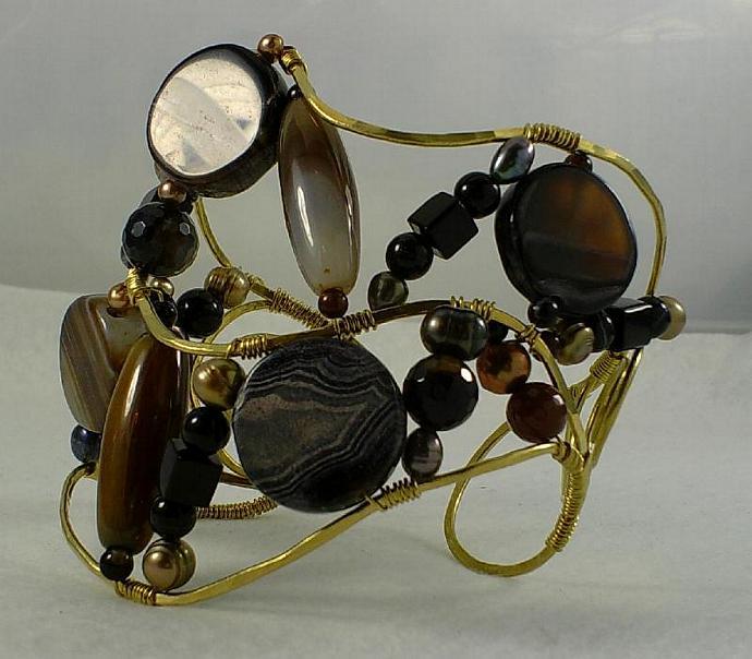Black Onyx and Brass-Item # 0002