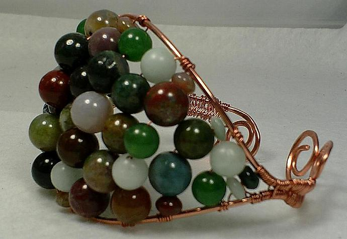 Copper and Jasper Bangle-Item # 0006