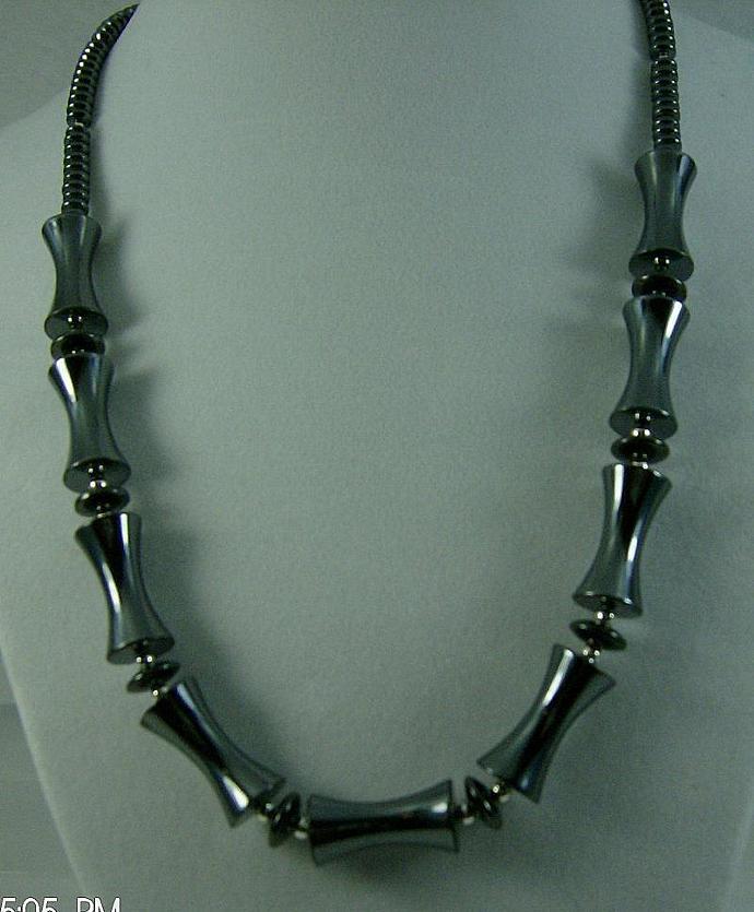 MENS Hematite Necklace-Item # 0010