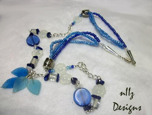 blue snow necklace