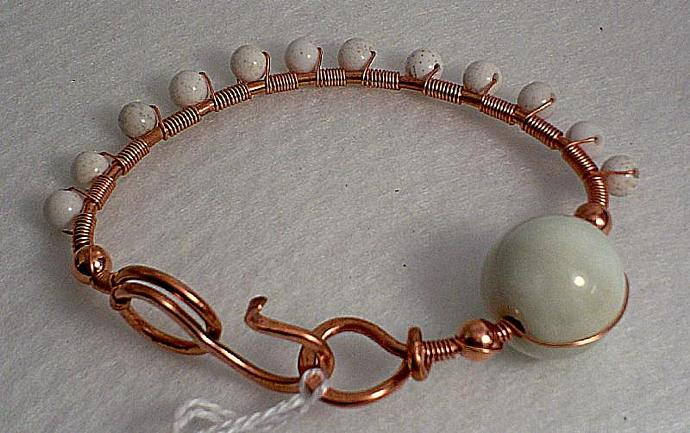 Copper and Riverstone Bangle-Item # 0032