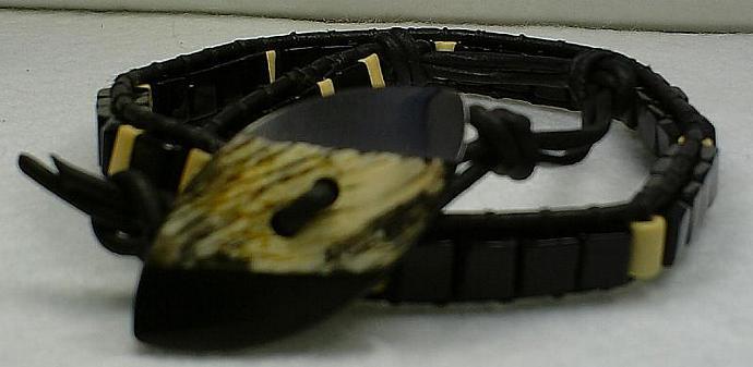 Black Wrap Bracelet-Item # 0035