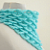 Turquoise Triangle Mohair Warm Cowl