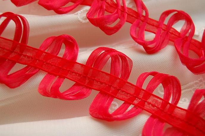 2 yards Loopy Loop Ribbon Trim in RED