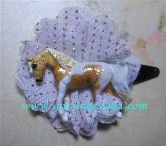 Palimino Pinto Pony Hair clip, Fascinator