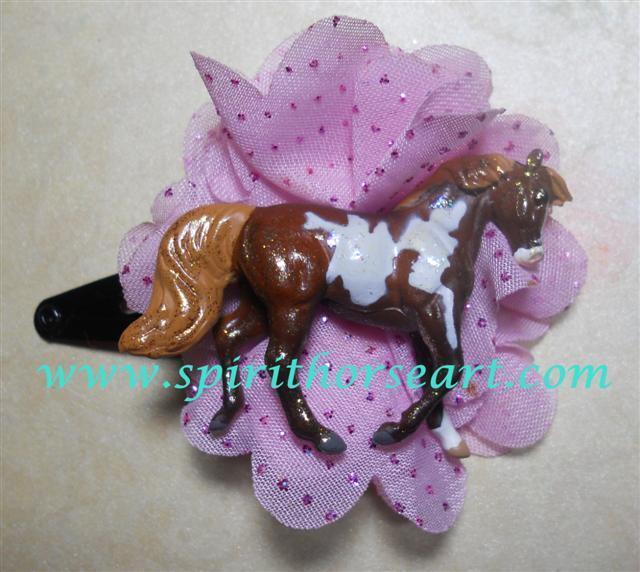 Pinto Pony Hair clip, Horse Fascinator