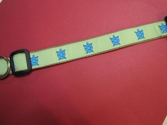 "Preppy 1"" Designer Sea Turtles Collar"