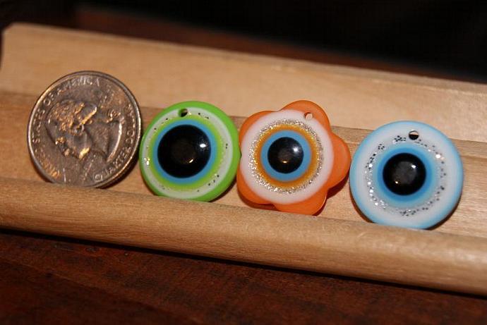 Evil Eye Pendants - 3 Pcs