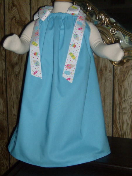 Turquoise Boutique Pillowcase Dress/Popsicle Ribbo