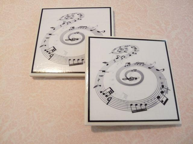 Sheet Music - Music Notes Coasters - Set of 2