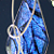 Wire Wrapped Saphire Blue Dichroic Glass Pendant