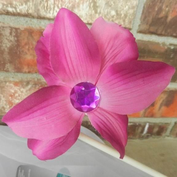 Fushcia Purple Hawaiin Hair Clip