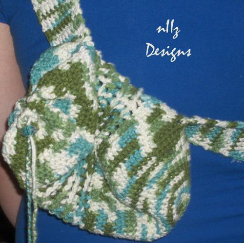 crochet sling purse