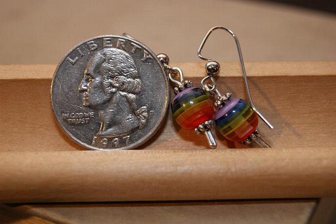 Pride Spheres - Rainbow Earrings
