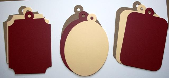 """Chipboard """"charms"""" with cardstock covers mini  album Dark Raspberry and creamy"""