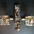Dichro fused glass tie clip and cuff links