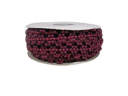 Burgundy flower trim