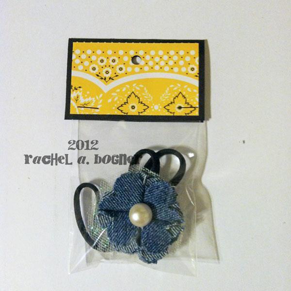 HANDMADE flower headband, Denim and Tulle