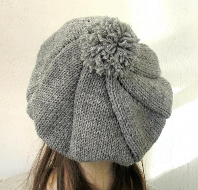 Knitting Patterns For Winter Hats : Knit Hat Pattern- Hat Knitting PATTERN Fashionknitting