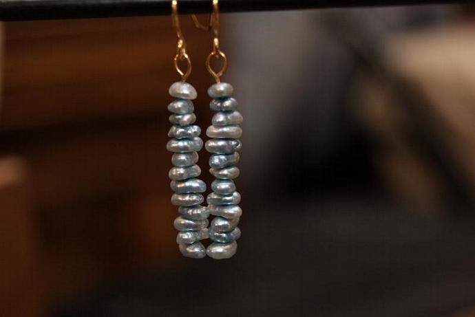 Something Blue - Freshwater Pearls - Earrings