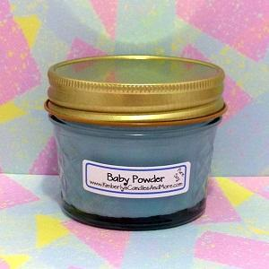 Baby Powder PURE SOY 4 oz. Jelly Jar Candle