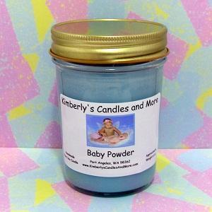 Baby Powder PURE SOY Jelly Jar Candle