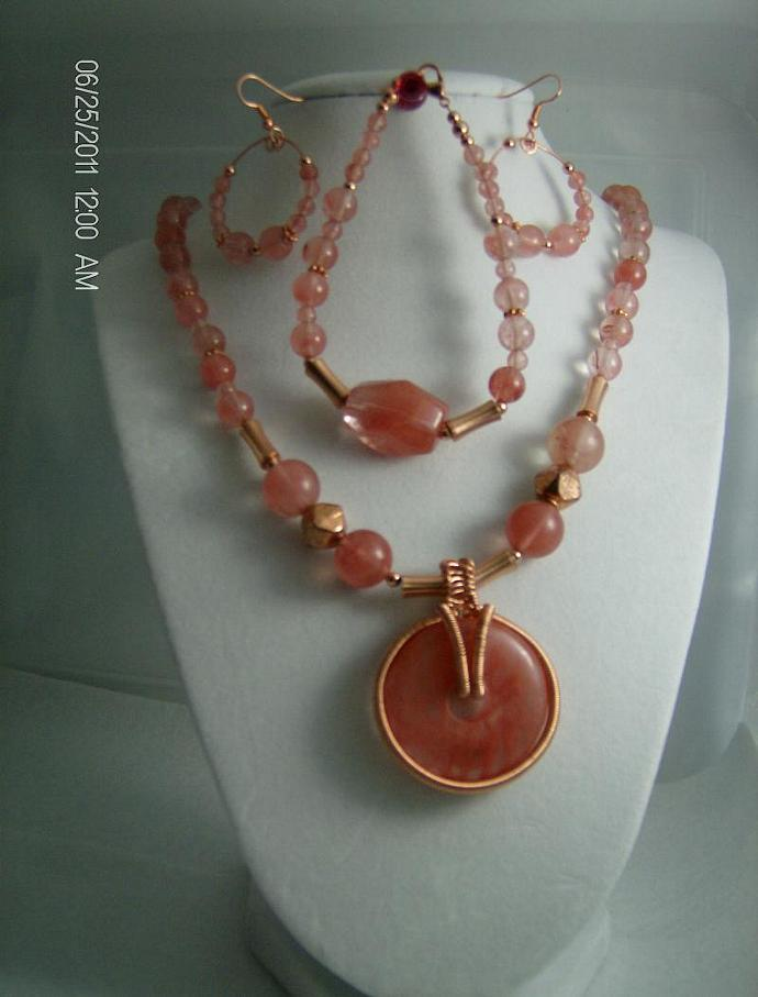 Copper and Rose Quartz-Item # 0061