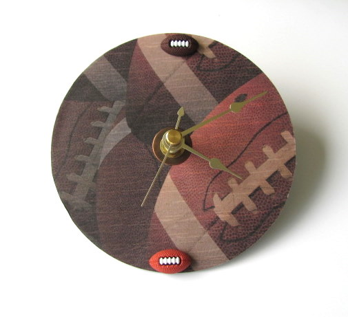 Football CD Upcycled Clock