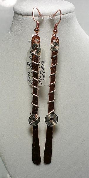 Long Copper Earrings-Item # 0064