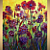 Original Abstract Modern Oil Painting FALL FLOWERS