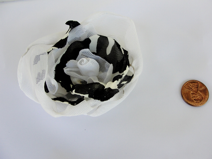 White with black Flower Accessory
