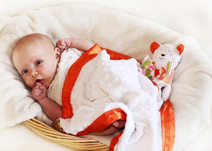 Minky White Bear Lovey Blanket, Satin, Baby Blanket, Stuffed Animal, Baby Toy -