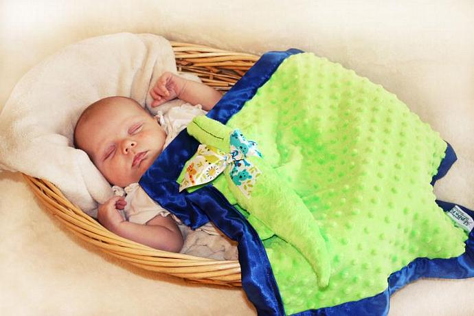 Green Alligator Lovey Blanket, Satin, Baby Blanket, Stuffed Animal, Baby Toy -
