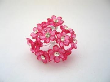 10 Fuchsia  Crystal flowers